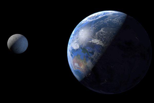 Terre / Lune- blender - planètes 3D