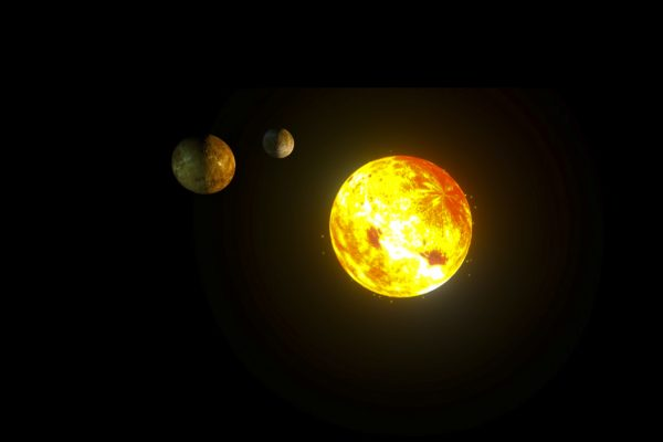 Soleil - blender - planètes 3D.