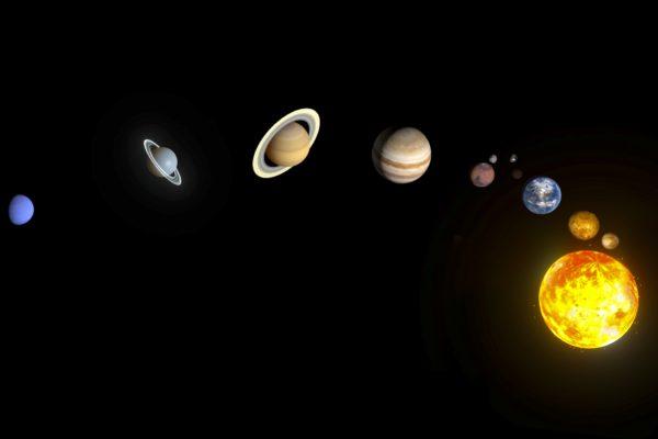 Sytème solaire- blender - planètes 3D.