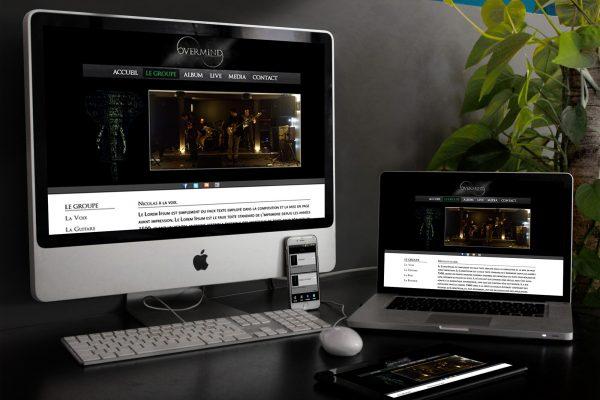 Overmind - Groupe de musique - site internet